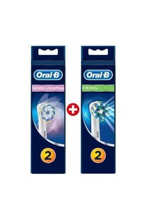 Oral-B Diş Fırçası Yedek Başlığı Cross Action 2'li+sensi 2'li 1