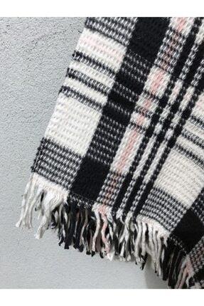 İpekçe Home Cotton Garden Çift Kişilik Pamuklu Battaniye Siyah-pudra 1