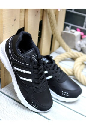 Trendway Unisex Siyah Spor Ayakkabı 0