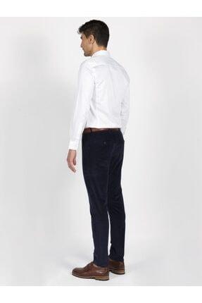 Mcr Erkek Lacivert Model Super Slim Kadife Pantolon 38804 1
