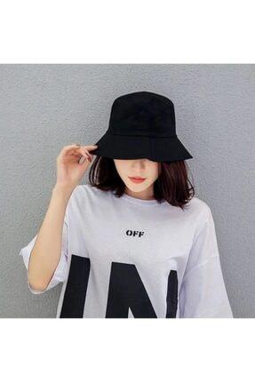 Belifanti Collection Düz Siyah Kova Şapka Balıkçı Şapka Bucket Hat 2