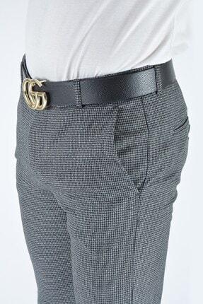 Terapi Men Erkek Gri Slim Fit Keten Pantolon 4