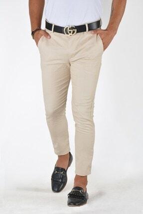 Terapi Men Erkek Krem Slim Fit Keten Pantolon 1
