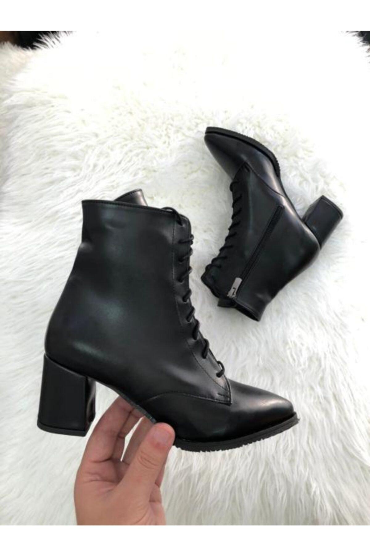 Hg Ayakkabı Kadın Siyah Valerıa Ayakkabı