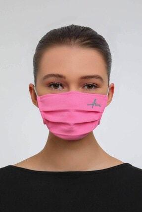 Haşema Antibakteriyel Sertifikalı Gümüş Iyonlu Yıkanabilir Maske Pembe 1