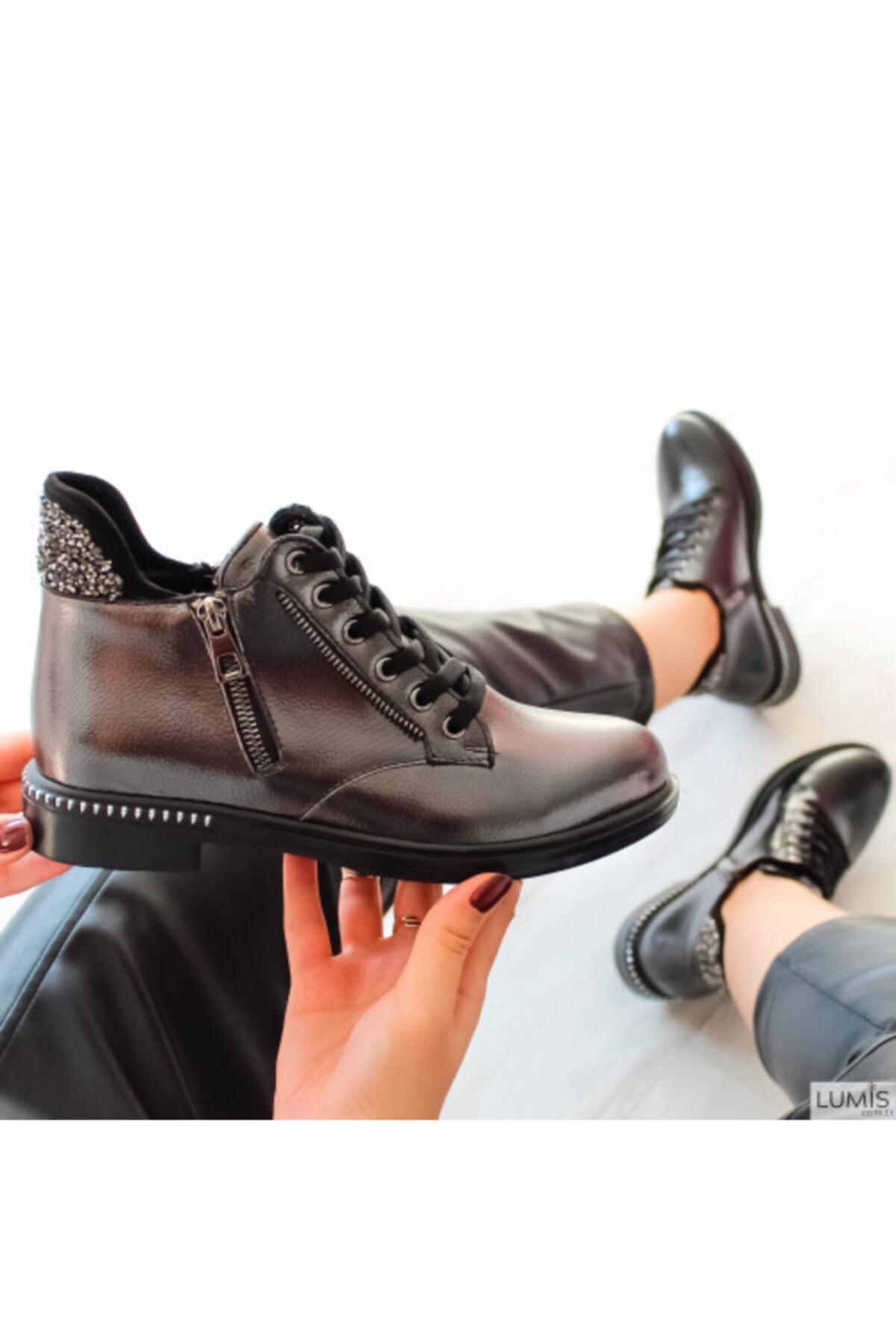 Lumis Shoes Kadın Platin Rugan Ayakkabı