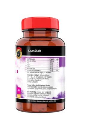 FLX Collagen Kolajen Tip-1-2-3 Hyoluronic Asit Vitamin C 60 Tablet 1