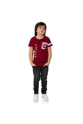 Picture of Erkek Çocuk Bordo  Strong Baskılı T-Shirt