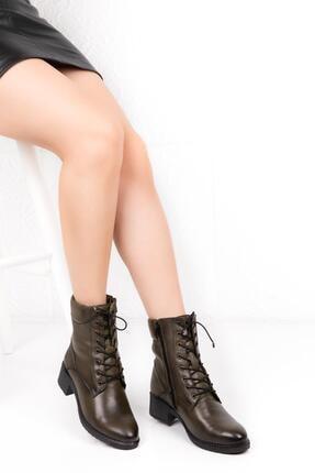 Bellacomfort Shoes Kadın Haki Yeşil Bot-n1000 1