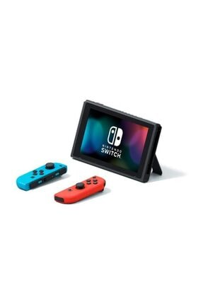 Nintendo Switch Neon Red Blue Yeni Model + HORI Compact PlayStand Mario Edition Hediye 2