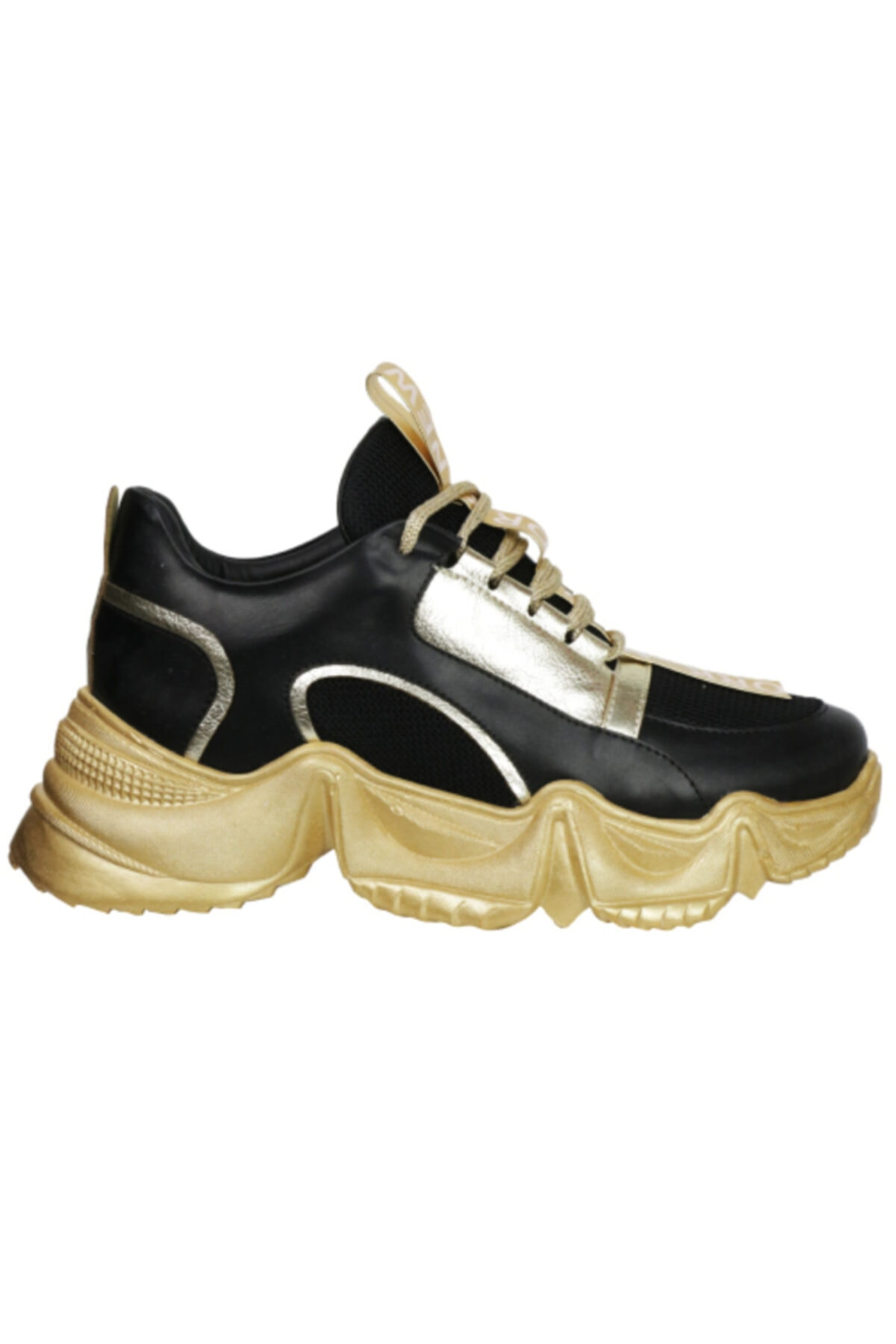 OZ DOROTHY Kadın Siyah Gold Sneaker Ayakkabı