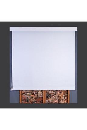 Anıper Beyaz Düz Stor Perde Tmnp-1001 110x260 cm 0