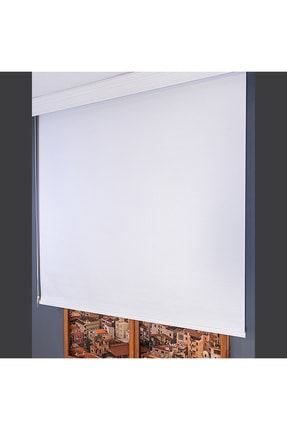 Anıper Beyaz Düz Stor Perde Tmnp-1001 110x260 cm 2