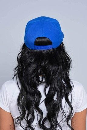 Mossta Unisex Saks Mavisi Nakışlı Ny Snapback Kep 1