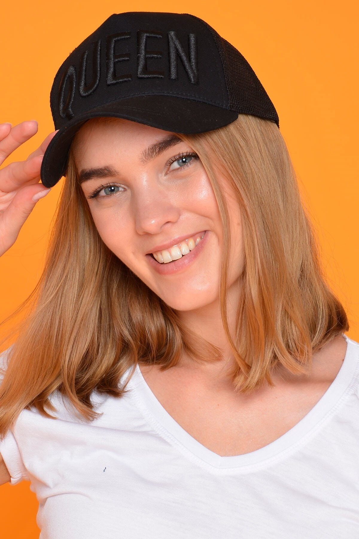 Kadın Siyah Queen Şapka