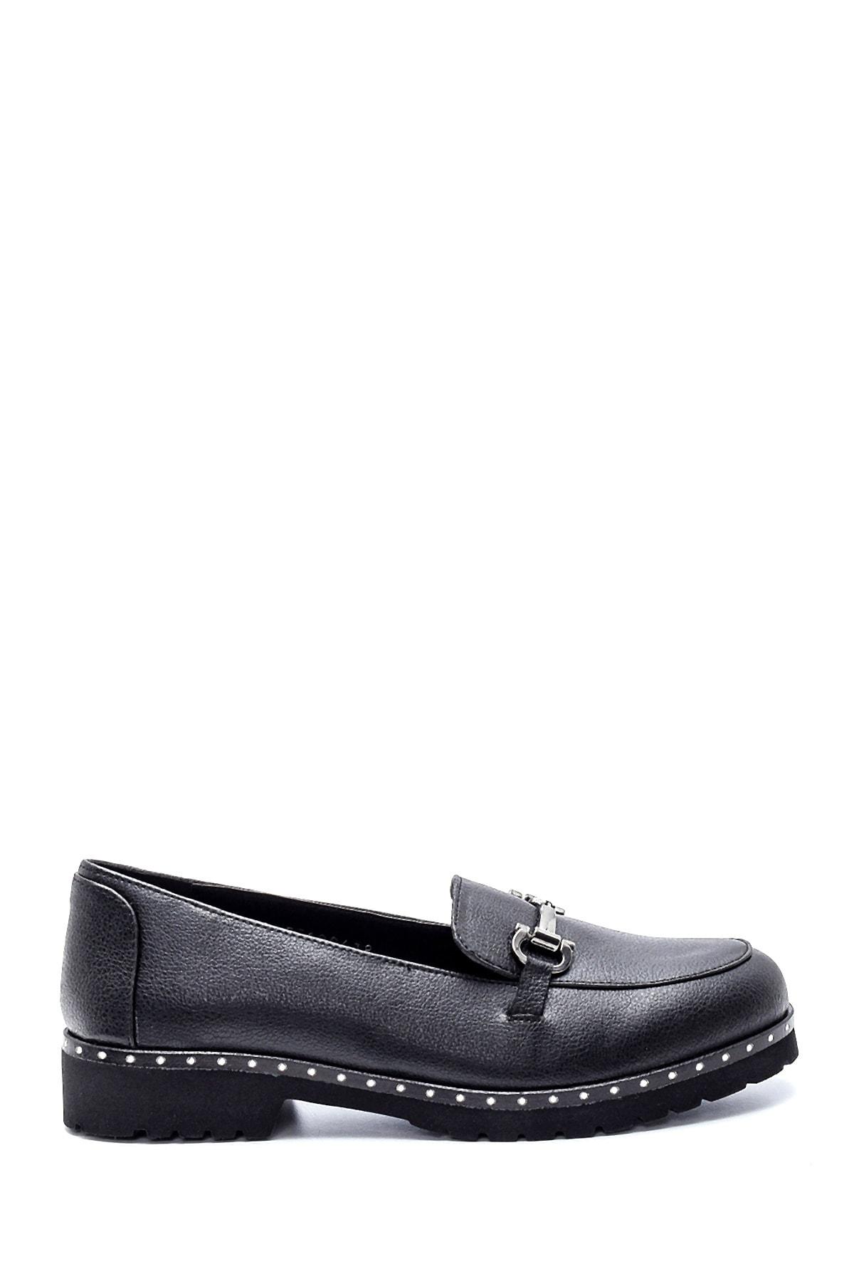Derimod Kadın Siyah Loafer Ayakkabı