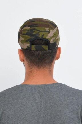 Mossta Erkek Haki Yeşil Kamuflaj Şapka 1