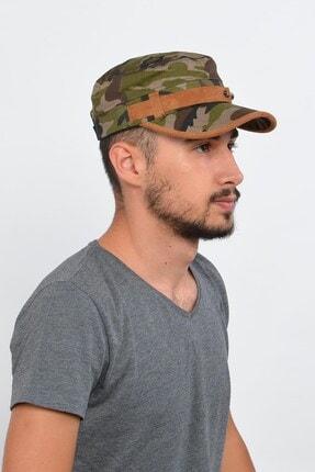 Mossta Erkek Haki Yeşil Kamuflaj Şapka 2