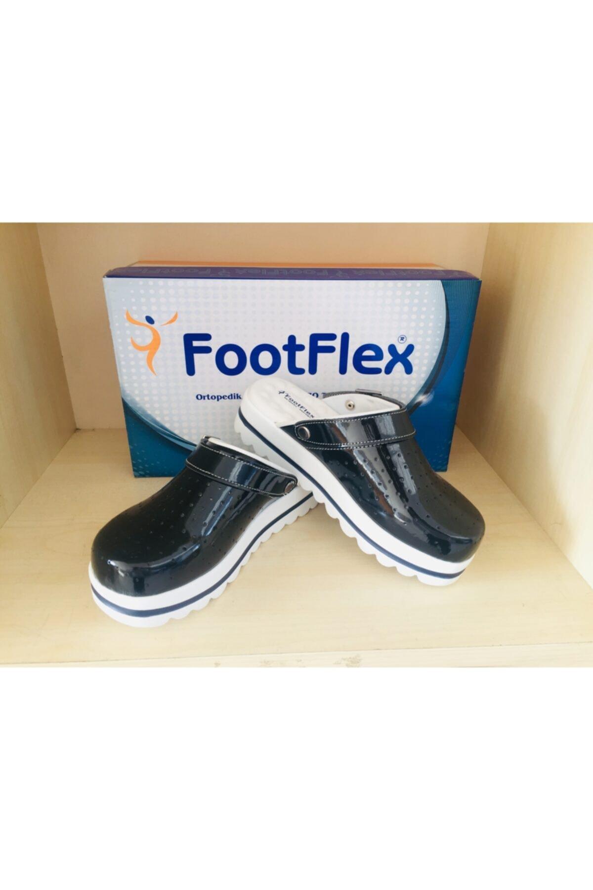 FootFlex Kadın Siyah Tam Ortopedik Terlik