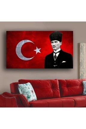 GENC DIJITAL BASKI Atatürk Ve Türk Bayrağı Kanvas Tablo 50x80 0