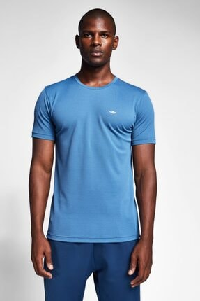 Lescon Erkek Derin Mavi T-Shirt 20S-1298-20B 4