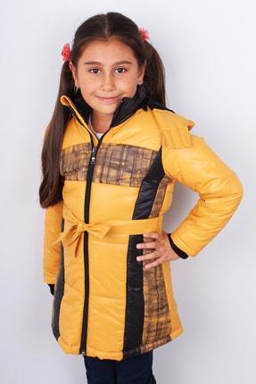 Kız Çocuk Hardal Mont Kürk Astarlı Kaban resmi