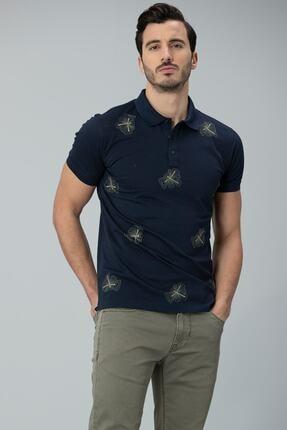 Lufian Alpaca Spor Polo T- Shirt Lacivert 2