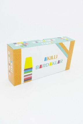 Akıllı Dükkan Akıllı Bardaklar El Becerisi Ve Zeka Gelişimine Destek Olan, Renkli Eğitici Oyuncak 4