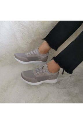 Gezer Yeni Sezon Aqua Ortopedik Ipli Lastikli Bayan Yürüyüş Spor Ayakkabı Sneaker 0