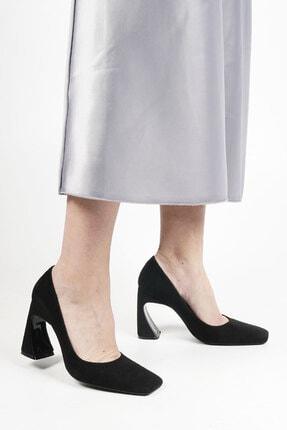 Marjin Devolze Kadın Topuklu Ayakkabısiyah Süet 0