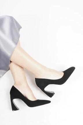 Marjin Devolze Kadın Topuklu Ayakkabısiyah Süet 1