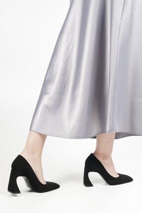 Marjin Devolze Kadın Topuklu Ayakkabısiyah Süet 2