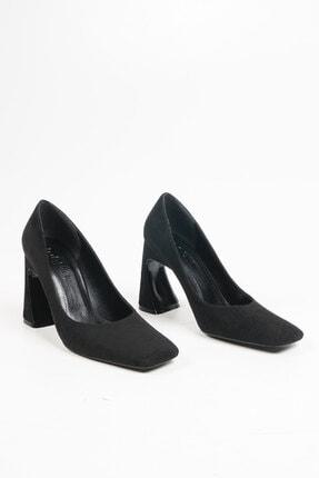 Marjin Devolze Kadın Topuklu Ayakkabısiyah Süet 4