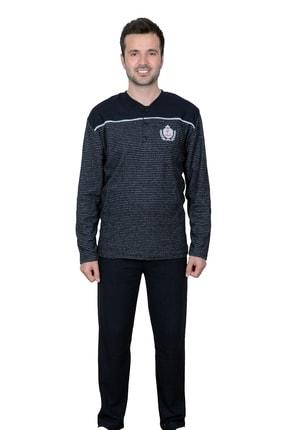 Kompedan Erkek Lacivert İnterlok Pijama Takımı Flk 2030 1