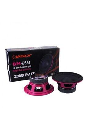 VISOR Bm-6551 Midrange Hoparlör Takımı 16 Cm 2x800 Watt 0