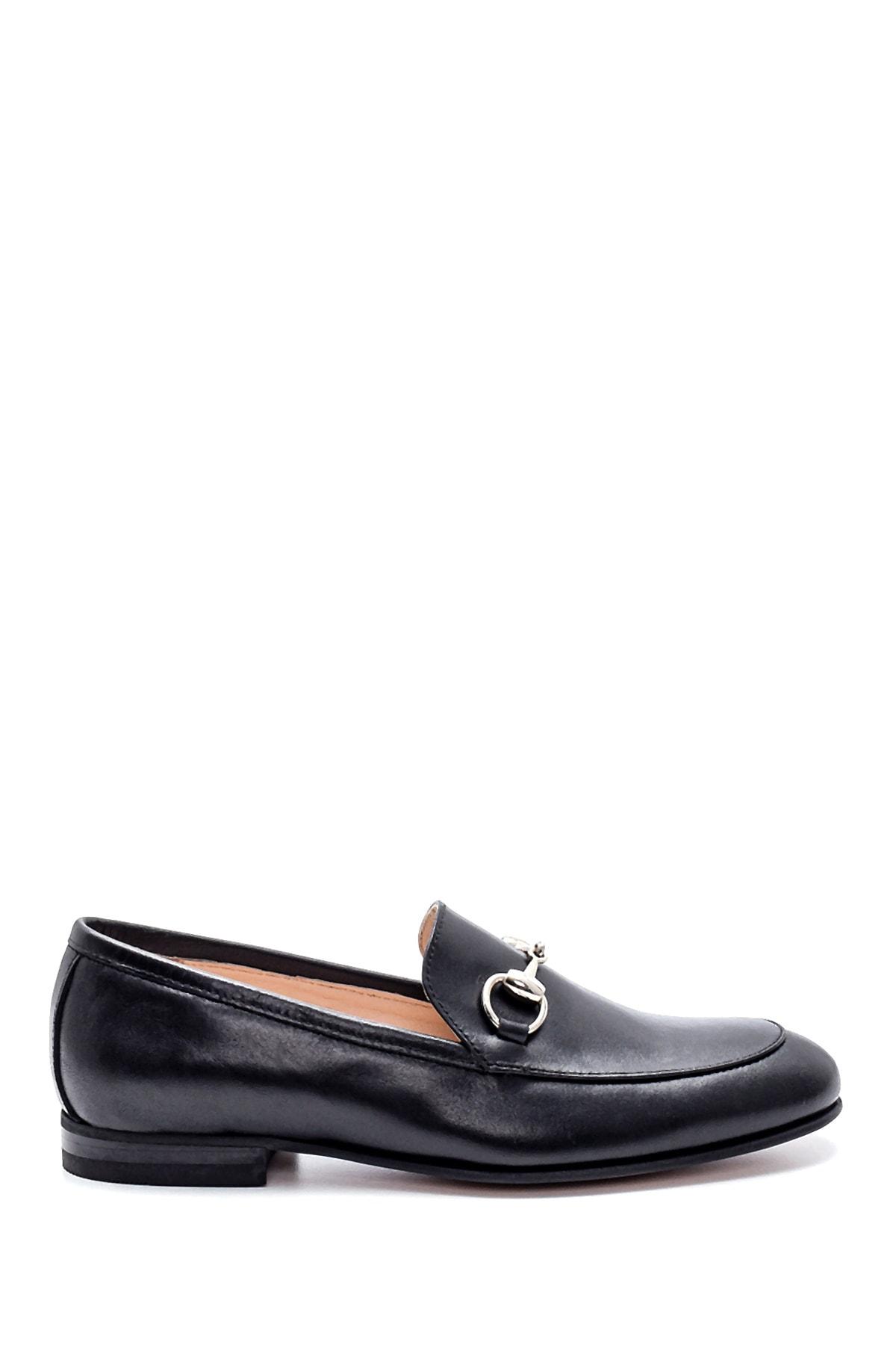 Derimod Kadın Siyah Deri Loafer