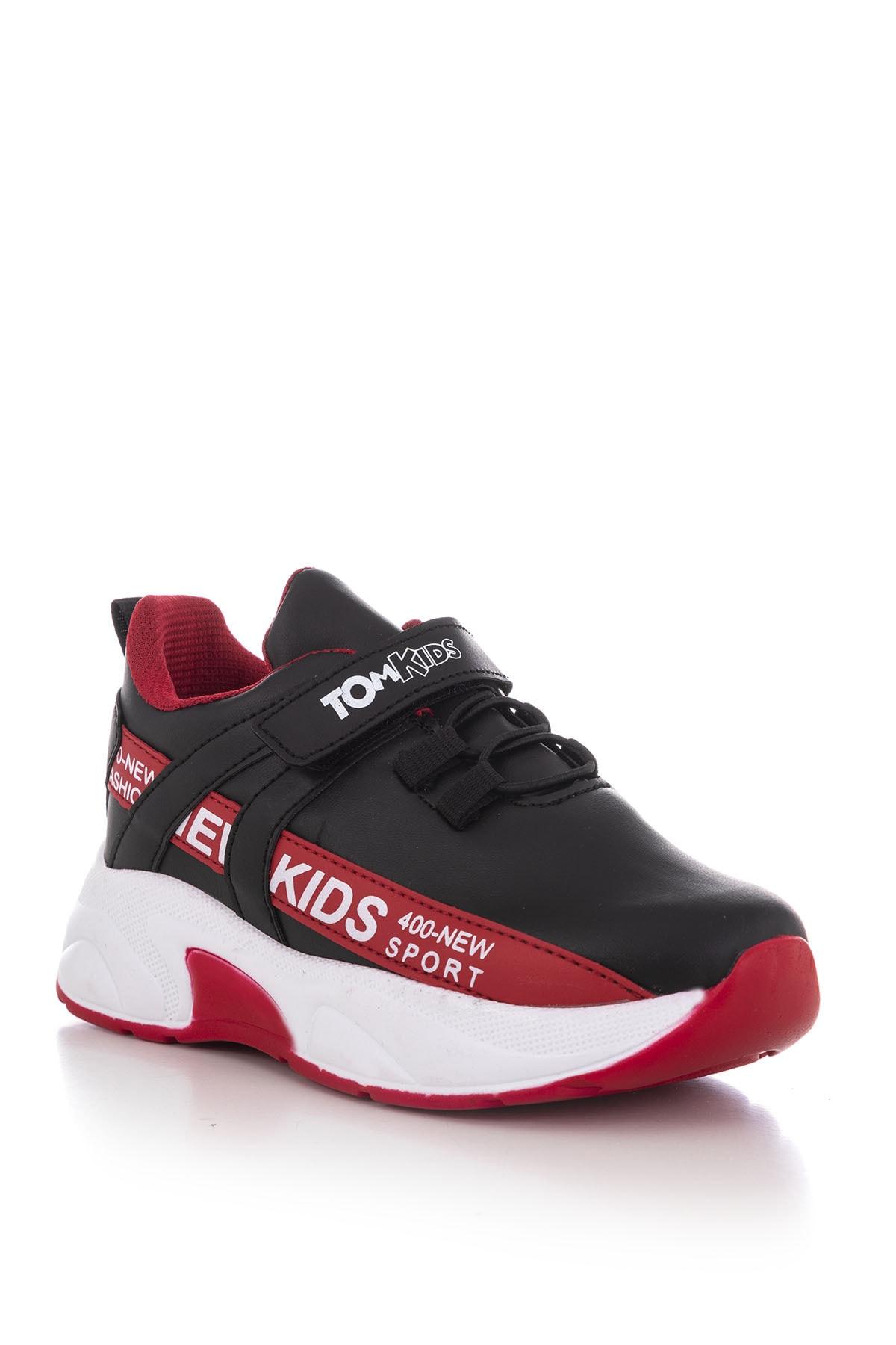 Tonny Black Siyah Kırmızı Çocuk Spor Ayakkabı Dg674 1