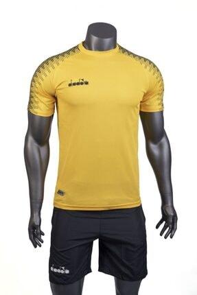 تصویر از تیشرت ورزشی  مردانه زرد