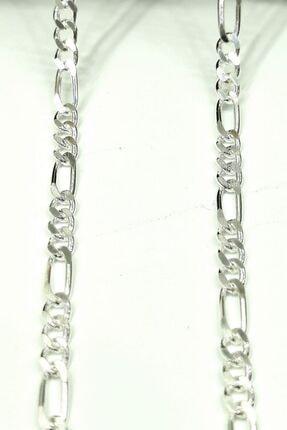 Omar Silver Unisex Figaro 3,6 Mm Gümüş Kolye Zincir Omr7641 1