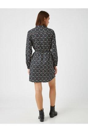Koton Kadın Lacivert Pamuk Çiçekli Kisa Elbise 3