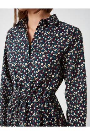 Koton Kadın Lacivert Pamuk Çiçekli Kisa Elbise 4