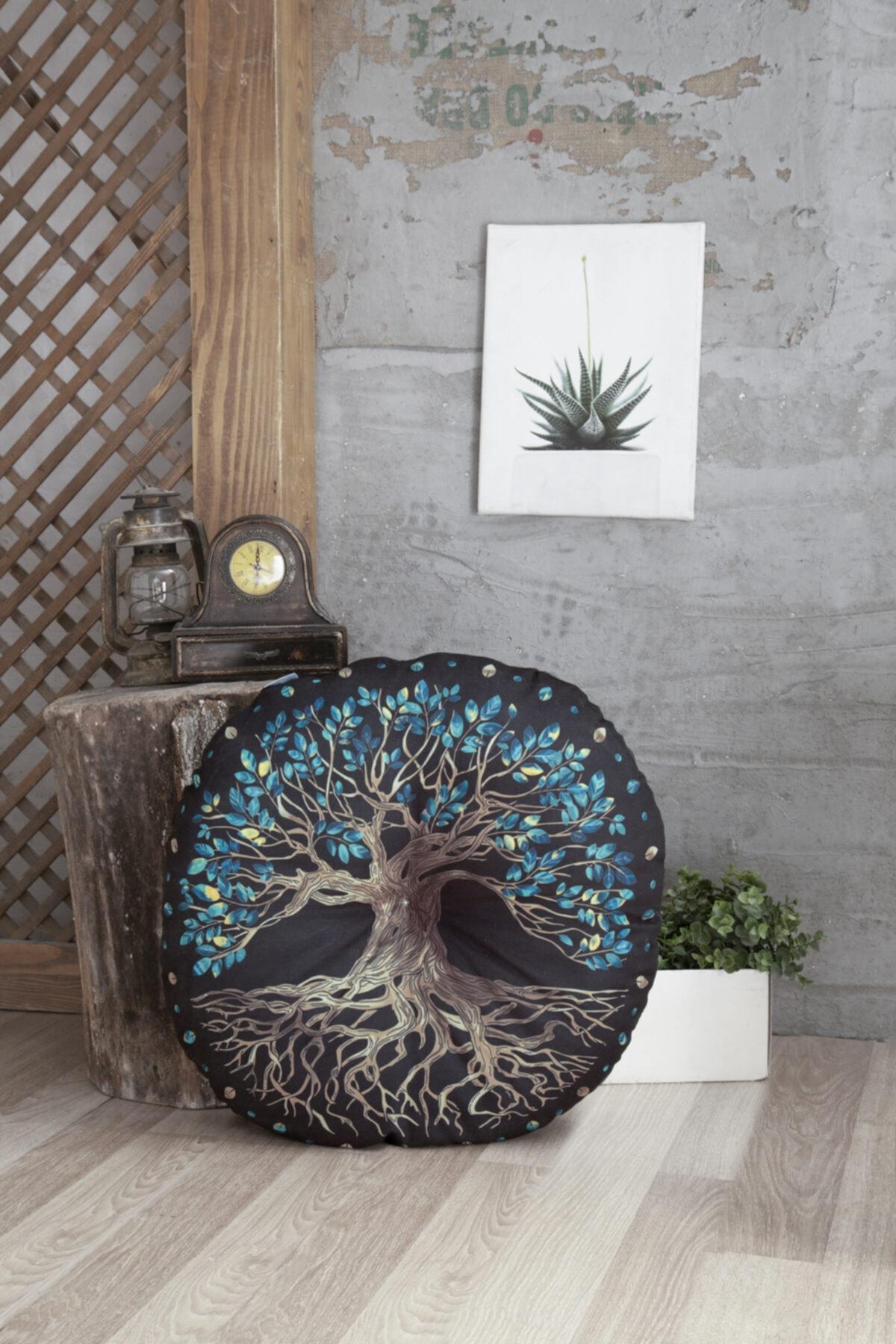 Home & Bath Dekoratif Yer Minderi Yggdrasill