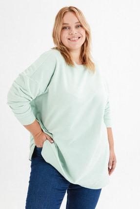 LC Waikiki Kadın Açık Yeşil Büyük Beden T-Shirt 3