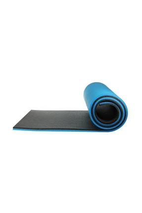 Walke 16 Mm Pilates Kamp Matı Mavi Siyah Taşıma Askılı 1