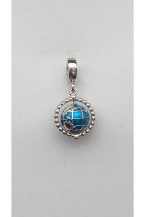 CHARM CLUB Kadın Gümüş Pandora Model Dünya Charm 0