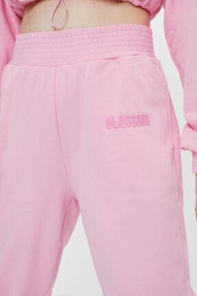 Bershka Kadın Pembe Powerpuff Girls Baskılı Jogging Fit Pantolon 4