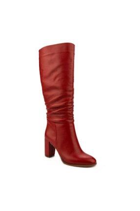 Emel Ayakkabı Kadın Kırmızı Modern Klasik Körüklü Fermuarsız Rahat Günlük Çizme 0