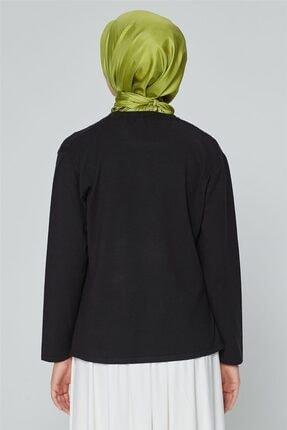 Armine Kadın Siyah Triko Kazak 9k9008 3