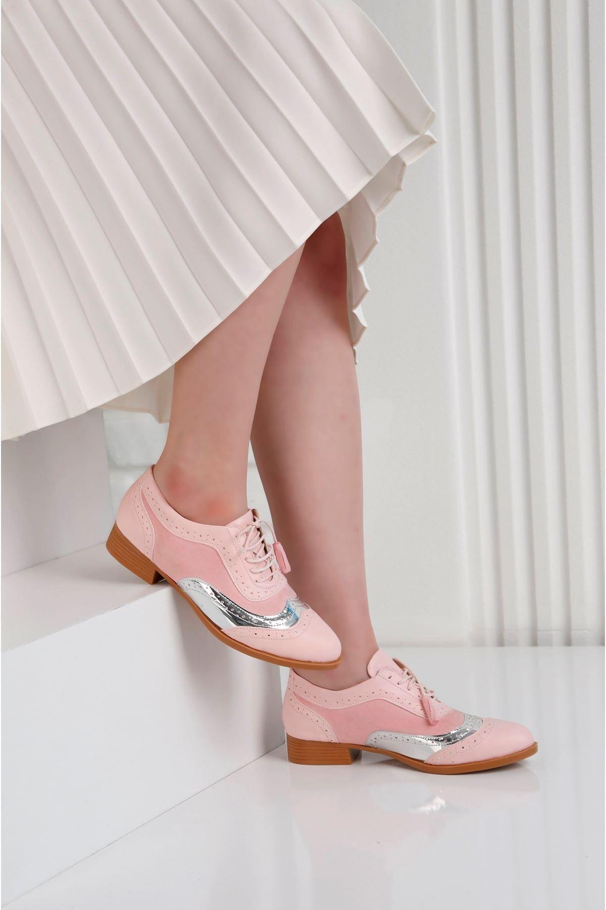 POLO PRESTIGE Kadın Pembe Oxford Günlük Ayna Detay Ayakkabı