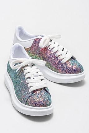 Elle ZANDA-2 Yesıl Gliter Kadın Casual Ayakkabı 3